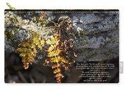 Golden Autumn Fern Carry-all Pouch