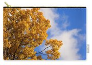 Golden Autumn Leaves And Blue Sky Carry-all Pouch