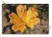 Golden Autumn Maple Leaf Filtered Carry-all Pouch