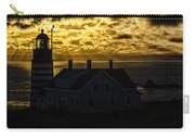 Golden Backlit West Quoddy Head Lighthouse Carry-all Pouch