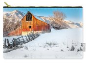 Golden Barn At Sunrise Carry-all Pouch