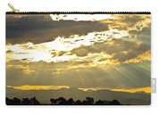 Golden Beams Of Sunlight Shining Down Carry-all Pouch
