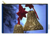 Golden Bells Blue Greeting Card Carry-all Pouch