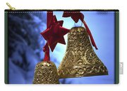 Golden Bells Green Greeting Card Carry-all Pouch