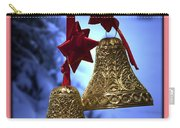 Golden Bells Pink Greeting Card Carry-all Pouch