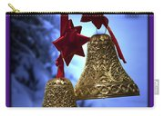 Golden Bells Purple Greeting Card Carry-all Pouch