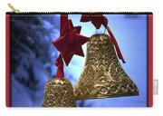 Golden Bells Red Greeting Card Carry-all Pouch