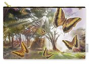 Golden Butterfly Rays Carry-all Pouch by Alixandra Mullins