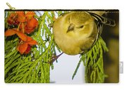 Golden Christmas Finch Carry-all Pouch