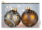 Golden Christmas Ornaments Carry-all Pouch by Elena Elisseeva