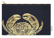 Golden Crab On Charcoal Black Carry-all Pouch
