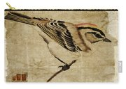 Golden-crowned Kinglet Carry-all Pouch by Carol Leigh