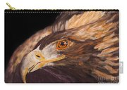Golden Eagle Close Up Painting By Carolyn Bennett Carry-all Pouch