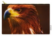 Golden Eagle Eye Fractalius Carry-all Pouch
