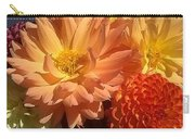 Golden Flowers Upclose  Carry-all Pouch