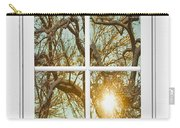Golden Forest  Branches White 8 Windowpane View Carry-all Pouch