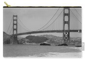 Golden Gate Bridge And Beach Carry-all Pouch