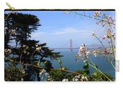 Golden Gate Bridge And Wildflowers Carry-all Pouch