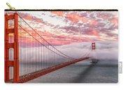 Golden Gate Bridge Sunset Evening Commute Carry-all Pouch