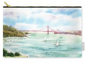 Golden Gate Bridge View From Point Bonita Carry-all Pouch by Irina Sztukowski