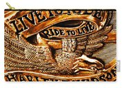 Golden Harley Davidson Logo Carry-all Pouch