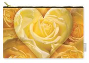 Golden Heart Of Roses Carry-all Pouch