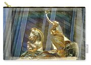 Golden Horse In The City Carry-all Pouch