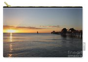 Golden Hour At Naples Pier Carry-all Pouch