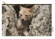 Golden Jackal Canis Aureus Cubs 2 Carry-all Pouch