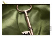 Golden Key On Green Silk  Carry-all Pouch