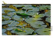 Golden Lilly Pads Carry-all Pouch