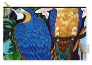 Golden Macaw Hand Embroidery Carry-all Pouch