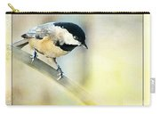 Golden Morning Chickadee Photo Art Carry-all Pouch