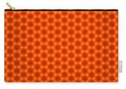 Golden Orange Honeycomb Hexagon Pattern Carry-all Pouch