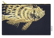 Golden Parrot Fish On Charcoal Black Carry-all Pouch