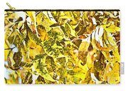 Golden Pecan Leaves Abstract Carry-all Pouch