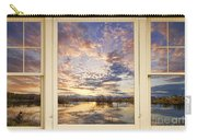 Golden Ponds Scenic Sunset Reflections 4 Yellow Window View Carry-all Pouch