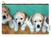 Golden Puppies Carry-all Pouch by Michelle Calkins