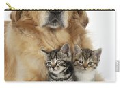 Golden Retriever And Kittens Carry-all Pouch