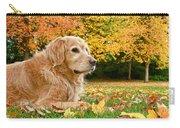 Golden Retriever Dog Autumn Day Carry-all Pouch