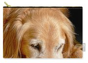 Golden Retriever Dog On The Yellow Blanket Carry-all Pouch