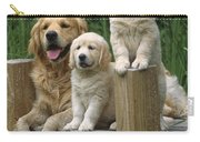Golden Retriever Dog With Puppies Carry-all Pouch