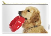 Golden Retriever Holding Bowl Carry-all Pouch