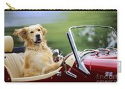 Golden Retriever In Car Carry-all Pouch