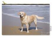Golden Retriever On Beach Carry-all Pouch