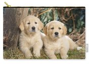 Golden Retriever Puppies In The Woods Carry-all Pouch