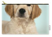 Golden Retriever Puppy With Rose Carry-all Pouch