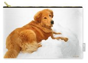 Golden Retriever Snowball Carry-all Pouch by Christina Rollo