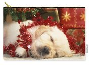 Golden Retriever Under Christmas Tree Carry-all Pouch
