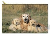 Golden Retriever With Puppies Carry-all Pouch